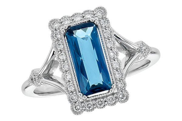 B244-60621: LDS RG 1.58 LONDON BLUE TOPAZ 1.75 TGW