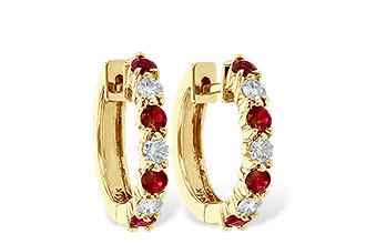 D055-48748: EARRINGS .64 RUBY 1.05 TGW