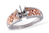 D240-04185: F060-03303 W/ ROSE GOLD INSERT .04 TW