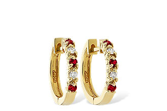 F055-48748: EARRINGS .17 RUBY .26 TGW