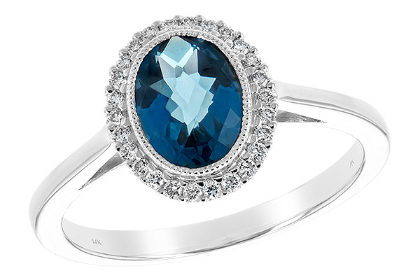 F243-65112: LDS RG 1.27 LONDON BLUE TOPAZ 1.42 TGW
