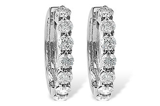 G055-48739: EARRINGS 2 CT TW
