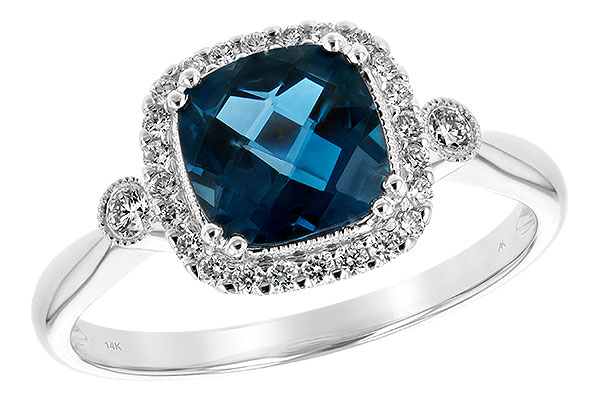 H243-65112: LDS RG 1.62 LONDON BLUE TOPAZ 1.78 TGW