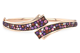 K242-79684: BANGLE 3.12 MULTI-COLOR 3.30 TGW (AMY,GT,PT)