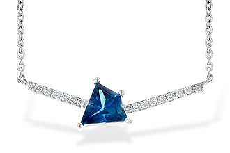 K244-61466: NECK .87 LONDON BLUE TOPAZ .95 TGW