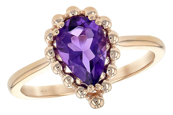 M243-67884: LDS RING 1.06 CT AMETHYST
